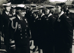 Inspection on parade