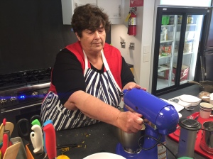 The electric mixer made short work of whizzing together the egg whites and dry ingredients